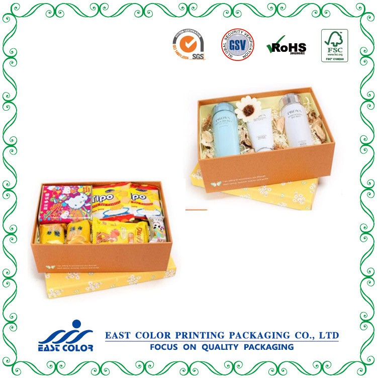 Customized paper cardboard gift cosmetic paper box