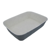 Eco Friendly disposable molded pulp paper cat/dog litter box design