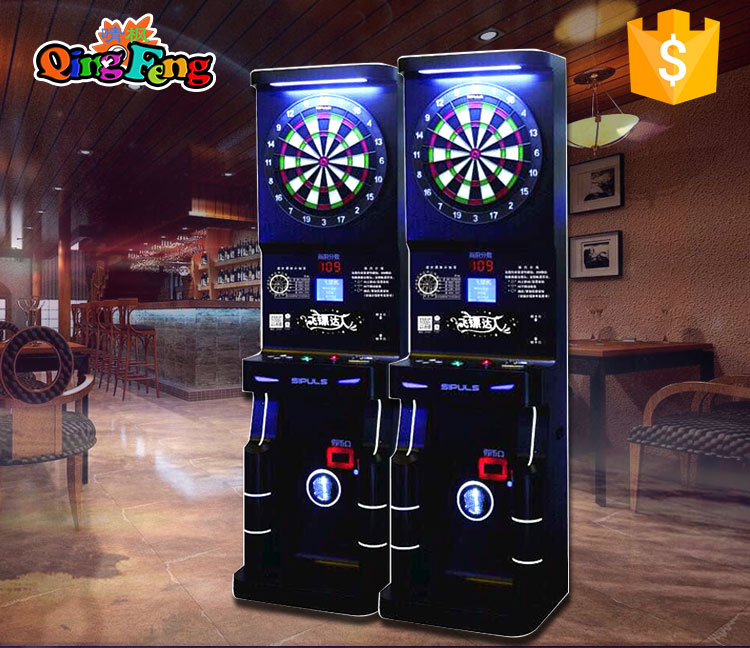 Low price good quality coin operated electronic dart board arcade dart game machine