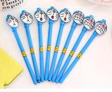 DIY creative stationery kids personalized Novelty gel pen with cute japanese cartoon Doraemon cap tag slim ball point pen