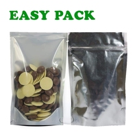 pp opp sealed biodegradable kraft brown paper mylar custom printed foil laminated mylar ziplock bags with window