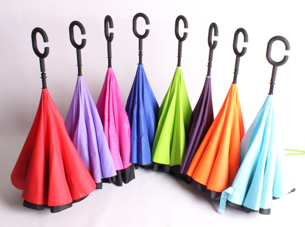 2016 Neue Erfindung Regenschirm Und Den Kopf Auf