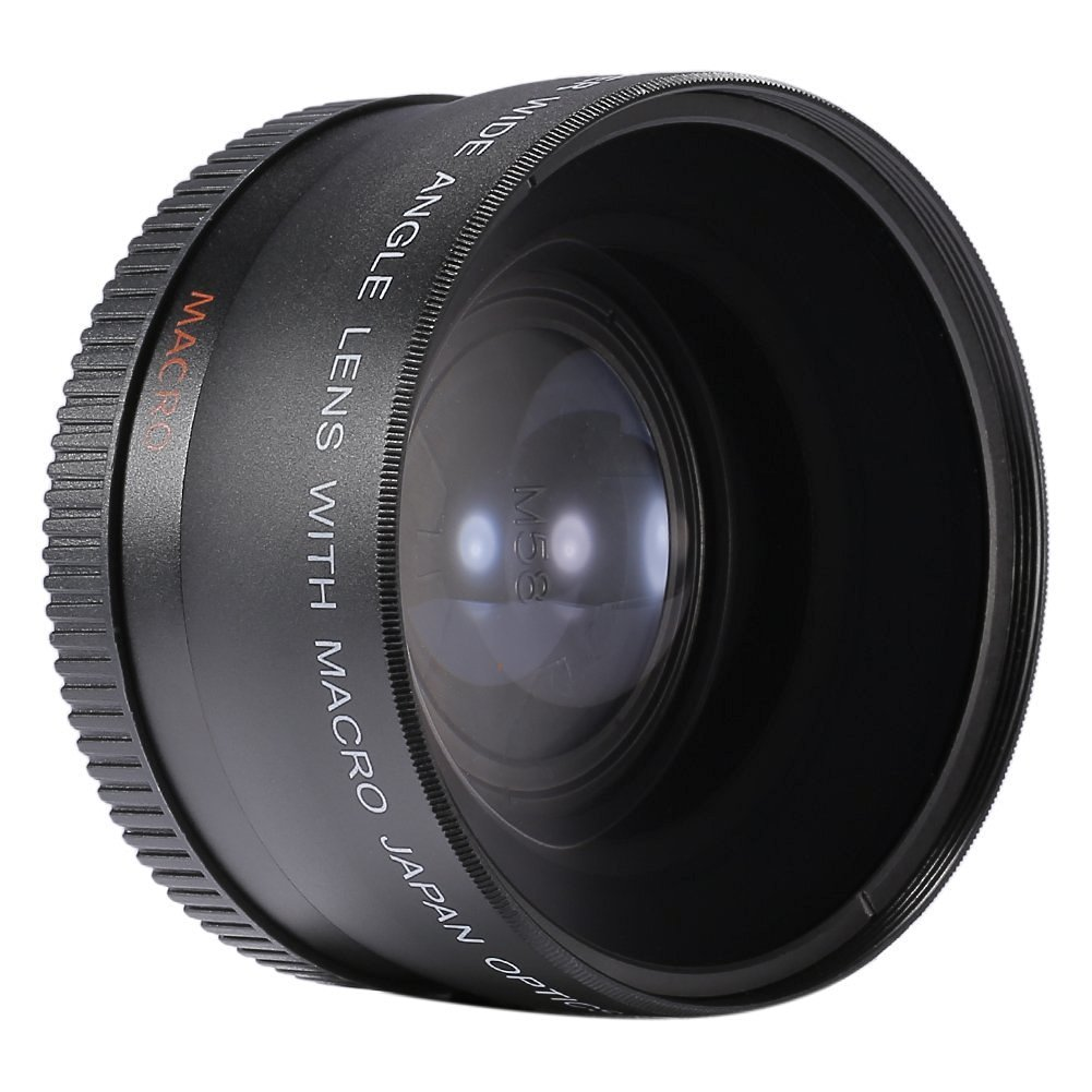 Neewer 55MM 0.45x Wide Angle Lens + Macro Lens for Sony Alpha A77 A280 A290 A380 A390 A580 A590 A700 A900 and all Other Cameras with a 55mm Sized Lens Filter Thread