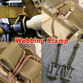 10Pcs lot Outdoor Elastic Rope Webbing Buckle Ribbon Fixed Clip Camping Tool ITW Webdom Web Dominator