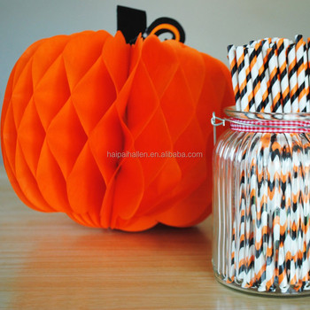 Haunted Halloween 3d Honeycomb Paper Pumpkins Thanksgiving