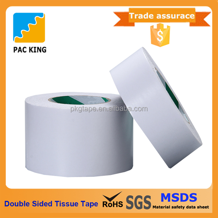 Star Product Slitting Or Jumbo Roll Adhesive Double Sided Tissue Tape For Packing And Fixing