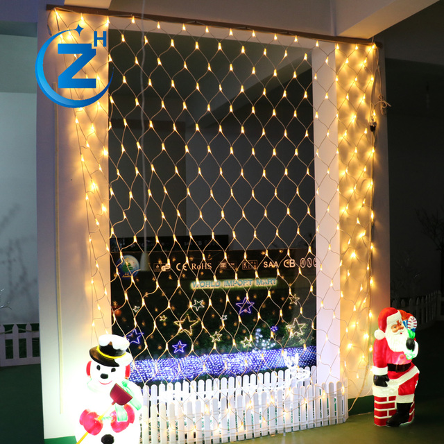 waterproof china hot sale new design net lights holiday party stage background outdoor color changing christmas