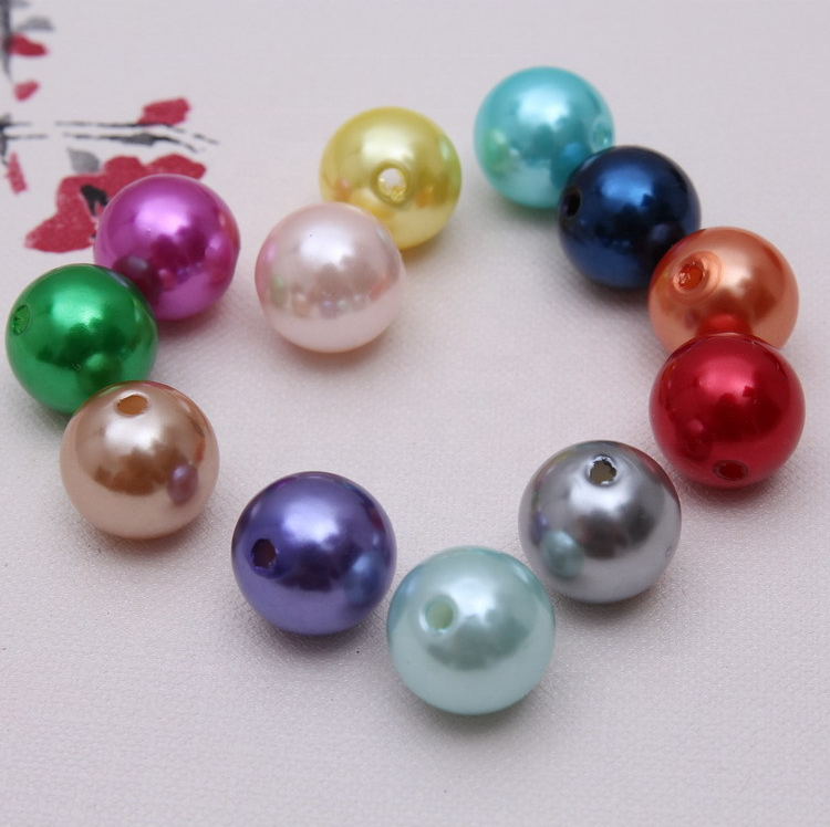 China candy beads factory decorative ceach acrylic resin beads abs ccb plastic beads