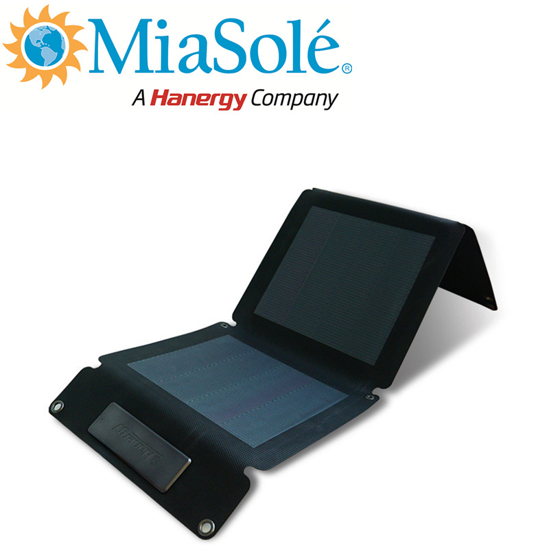 Hanergy 12W CIGS solar panel solar mobile phone charging station