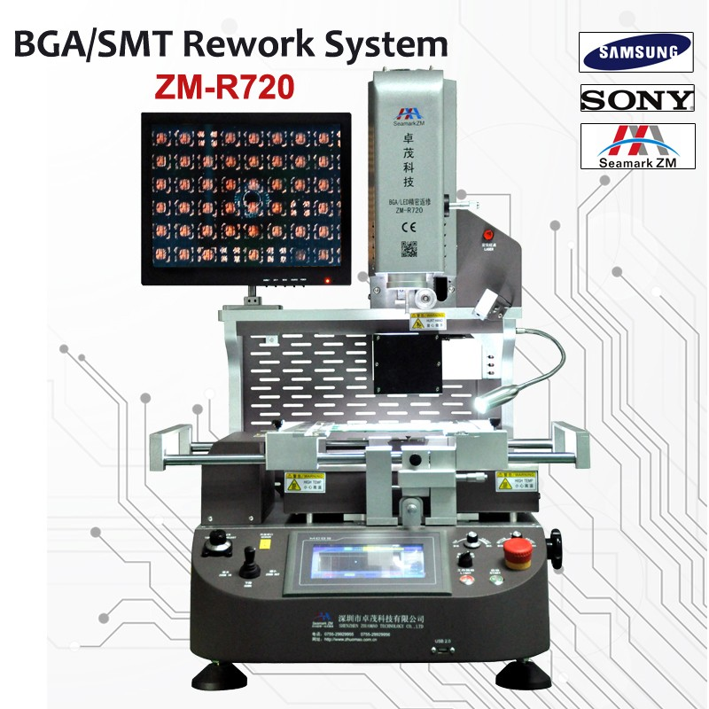 zhuomao station bga with optical alignment ZM-R720 used bga rework station in india