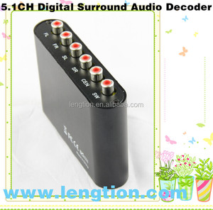 Analog 5.1 Channel AC3/DTS Audio Gear Digital Surround Sound Rush Audio Decoder HD player