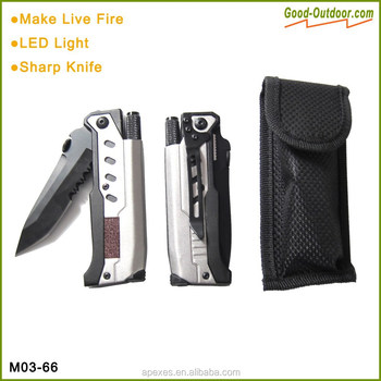 Multi functions survival knife with fire starter