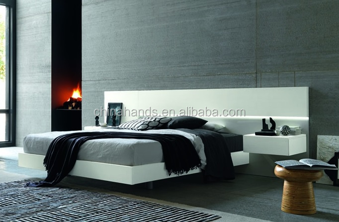 New Design Modern Luxury Bedroom Furniture White Glossy Large Headboard Queen Size Bed Buy Large Headboard Bed White High Glossy Bed Queen Size Bed