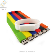Top selling custom Logo cheapest colorful bracelet usb flash drive