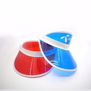Promotional Portable Transparent PVC Plastic Transparent Sun Visor Cap with  Multiple Color Selection 82185a8dcf11