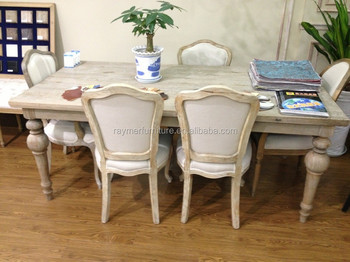 French Style Antique Dining Table And Chair Graceful Room Set For Villa Project New European