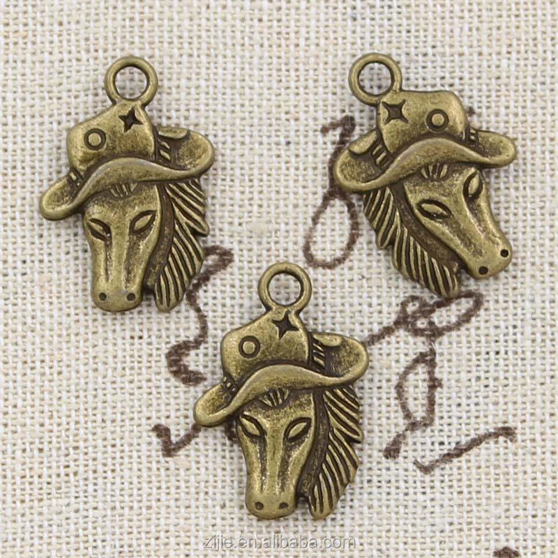 Beads & Beadwork 6 x Antique Bronze HORSE Charms With Jump Rings included for Attachments Jewellery-Making & Beadwork Kits