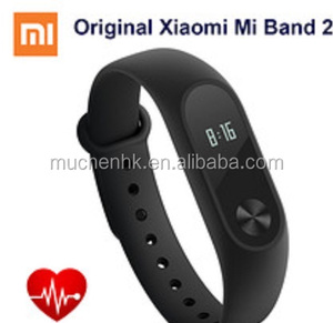 Xiaomi Mi Band 2 Miband with OLED Display Wristband Bracelet Smart Heart  Rate Fitness Activity Tracker 20 Days Standby Time, Bla