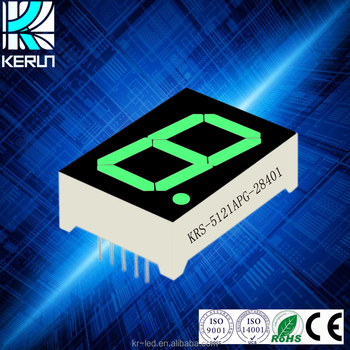 Factory price electronic components 0.52 inch green 1digit segment led