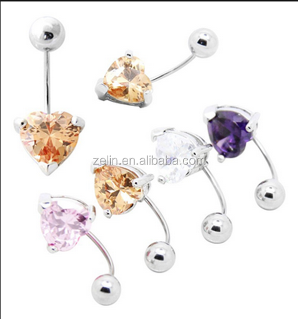 Nipple Jewelry Tongue CZ Stone Belly Navel Rings Body Piercing
