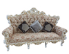 Luxury classical gold carving soft fabric sofa XYN901