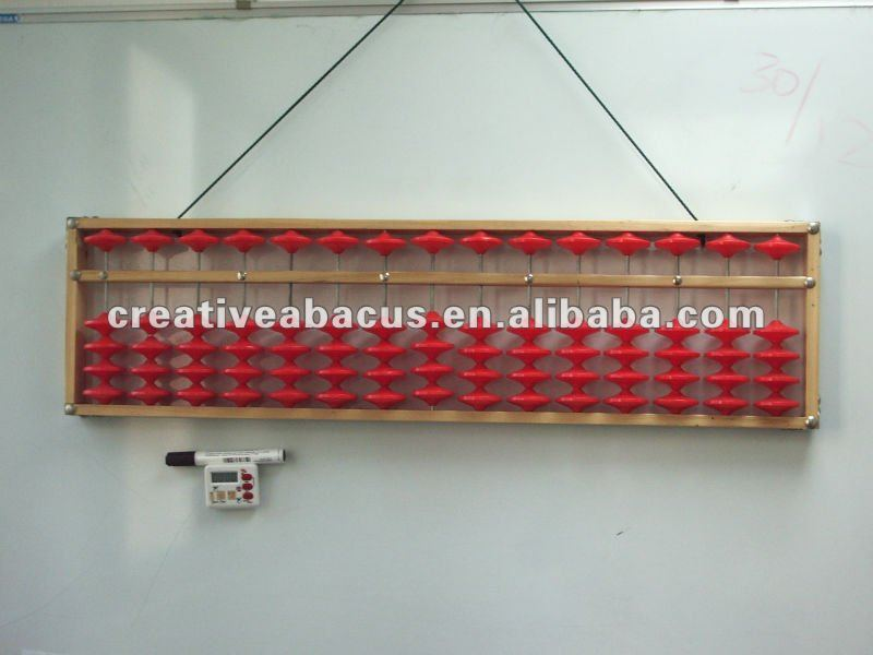 Teacher Abacus 15 rods Red Bead