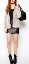 Women's Geo Stitch Boyfriend Cardigan