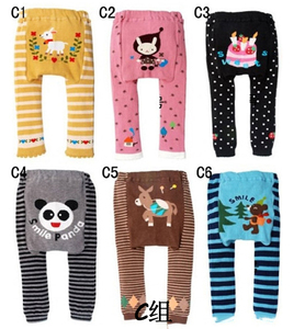 Small MOQ stock baby and kids PP pants baby girls leggings