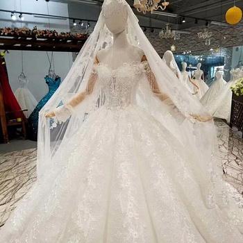 Backlakegirls 647744 Luxury Muslim Wedding Dress White Wedding
