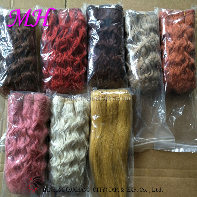100%angora goat hair mohair for bjd dolls hair wefts/extension/weave
