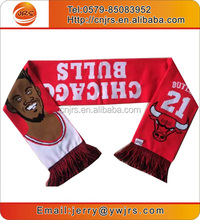China designer scarf wholesale mini fans football scarf knit soccer style scarf