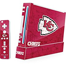 NFL Kansas City Chiefs Wii (Includes 1 Controller) Skin - Kansas City Chiefs Distressed Vinyl Decal Skin For Your Wii (Includes 1 Controller)