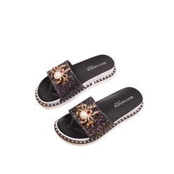 Mini HeLiSha lady slippers luxury ring upper flat shoes women stock