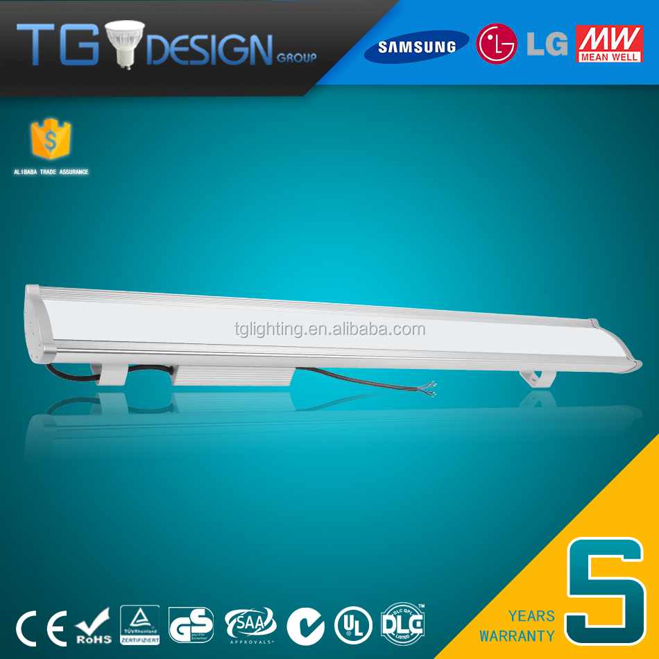 DLC UL 130lm/w 150W high bay light led with MW Drivers HLG-185H-42A