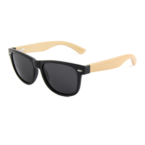 Wholesale custom logo sun glasses uv400 plastic polarized cat. 3 bamboo sunglasses
