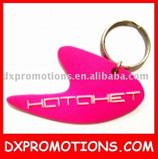 custom pvc keyring/pvc flexible key tags