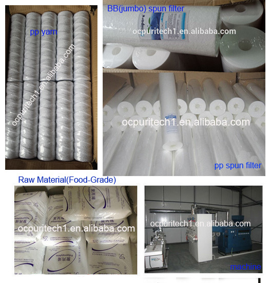 5 Micron PP Spun Sediment Water Filter Cartridge