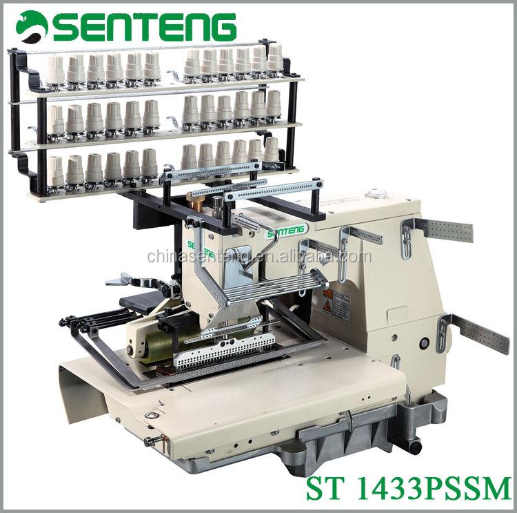 40 Pssm 40 Needle Chain Stitch Shirring Flat Bed Multi Needle Classy Sewing Machine Smocking