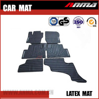 universal pvc rubber carpet anti slip car foot and floor mat