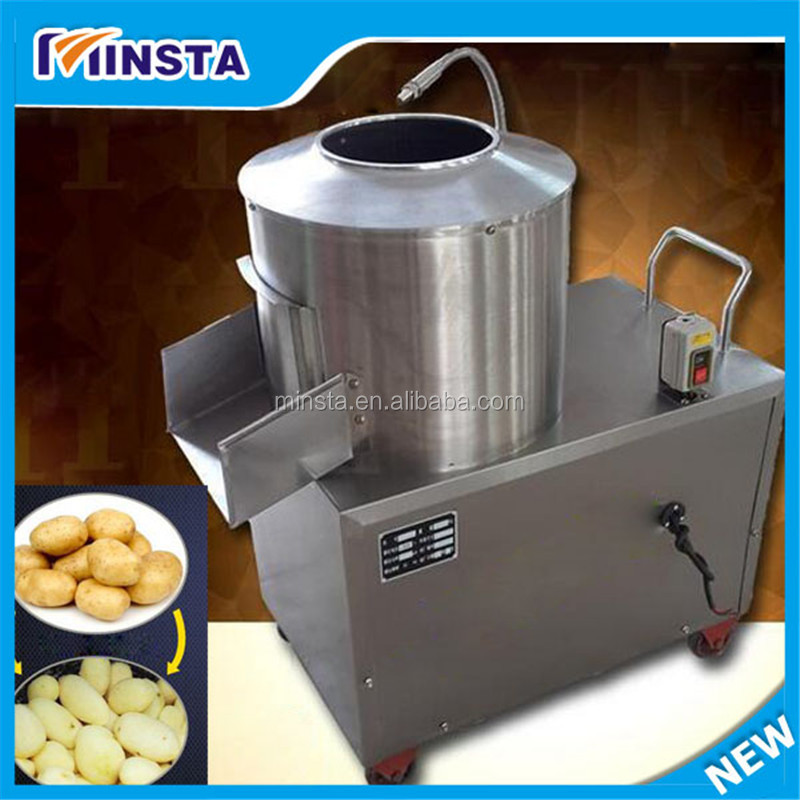 new products 2016 stainless steel 150-220kg/h taro peeler potato peeling machine