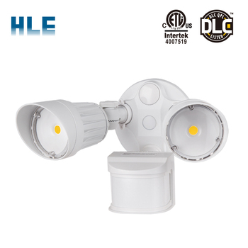 Led Outdoor Solar Motion Sensor Security Light Double Head With Pir Sensor,  View led security flood light with motion sensor, HLE Product Details from