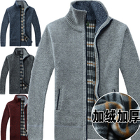 2017 Winter men's shrug cardigan knit sweater , long sleeve turtleneck sweater men casual stand collar