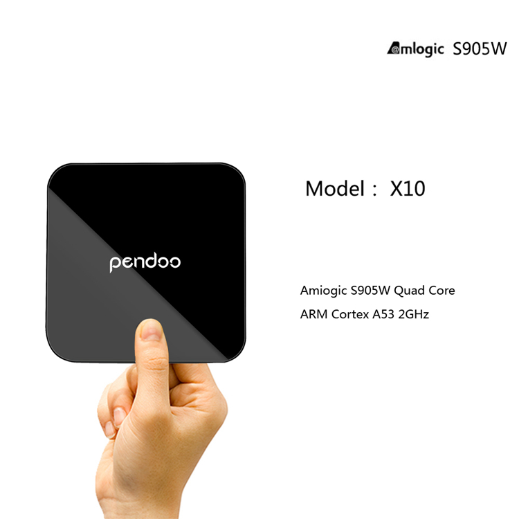 [ Amlogic S905W ] New brand Pendoo x10 S905W 2G 16 TV Box quad core stream tv box for promotion Android 7.1 Set Top Box