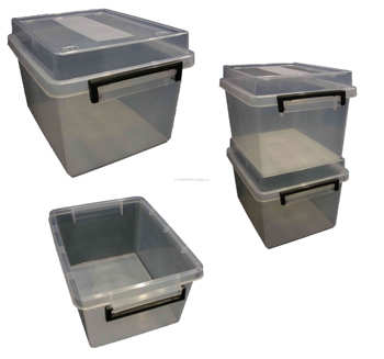 18lt Plastic Storage Box Boxes Tub Tubs Container Containers Strong