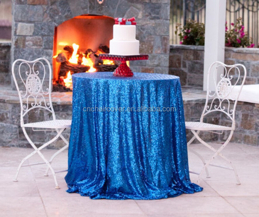 3MM Sequin Fabric Tablecloths Glitter Table Cloth