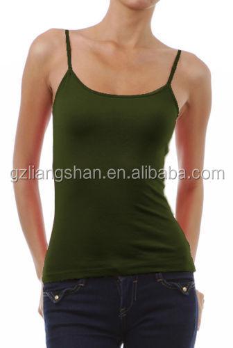 d8b0f42e3e5f5 2015 New OEM Wholesale Cheap Custom Womens CAMI Camisole Built in Shelf BRA  Adjustable Spaghetti Strap