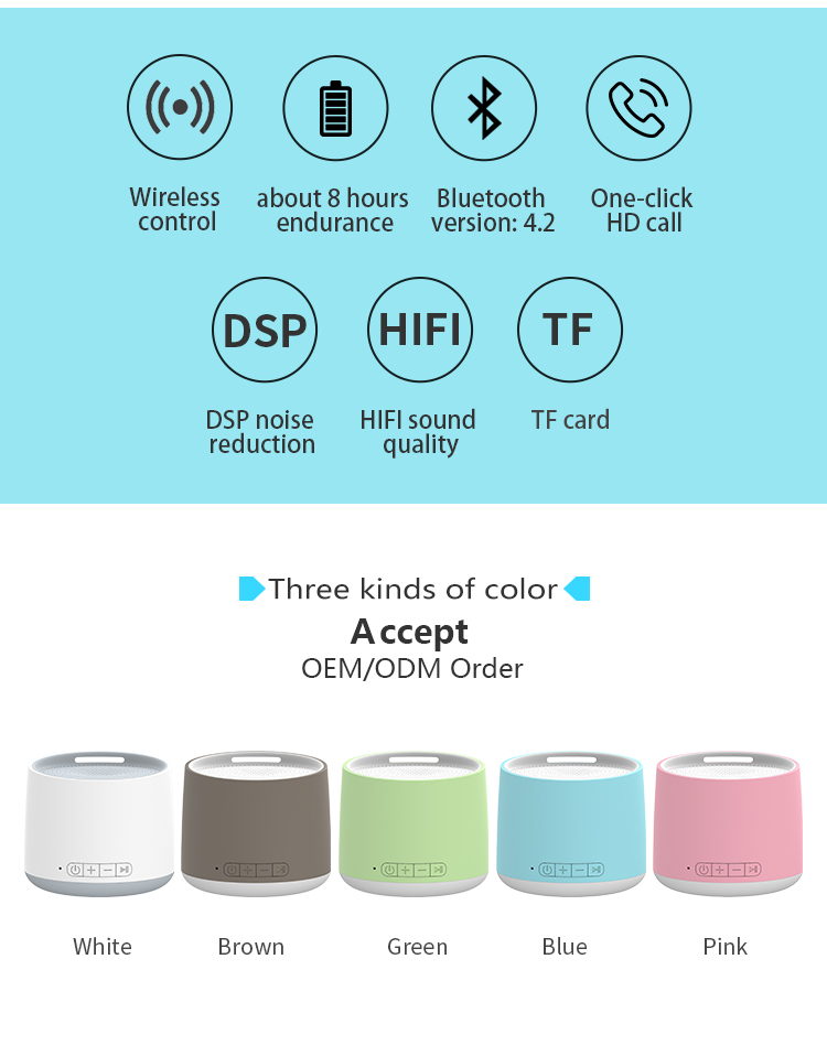 Mini Smart Nirkabel Gigi Biru Tws Bluetooth Portable Speaker Caixa Som De Bluetooth Speaker Stereo Subwoofer