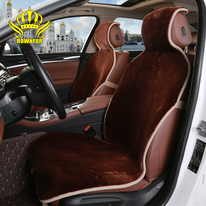 2020 Rownfur new arrival Wholesale faux nice sheepskin car universal seat cover in china  suit  99% car