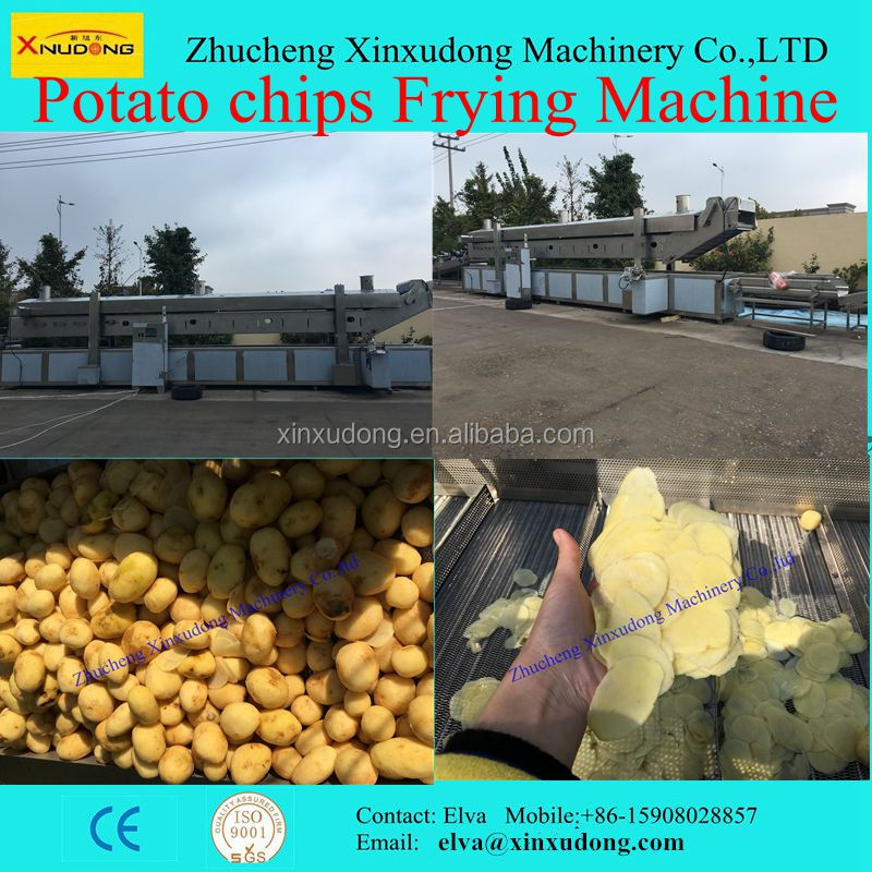 Automtatic Potato Chips Frying Making Machine for sale