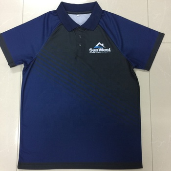 Clothing manufacturing custom dry fit advertising sublimation polo shirt with company logo